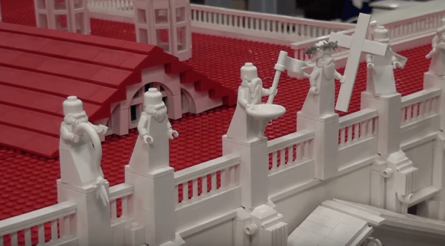 Vatican Replica Made With 500,000 Lego Bricks