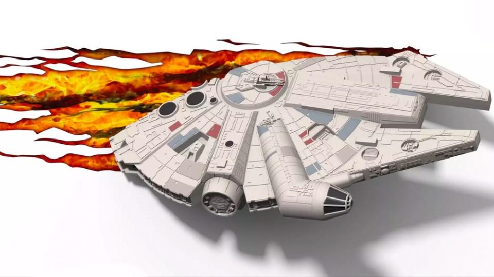 Millennium Falcon Mounted 3D Light