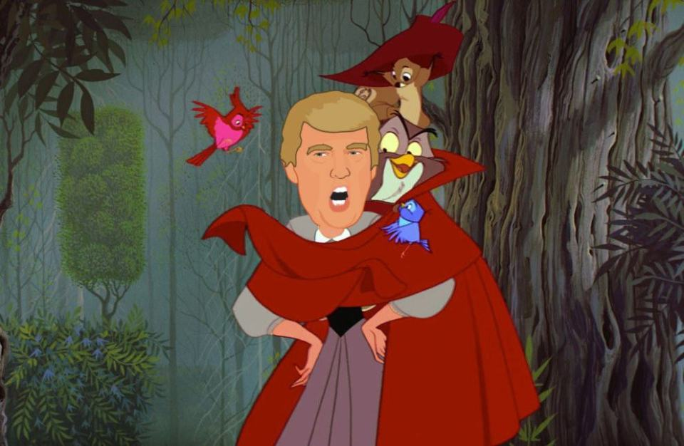 Donald Trump as Disney Princesses