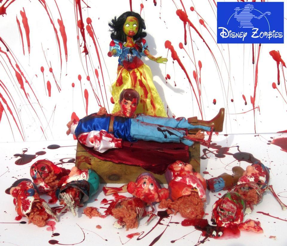 Disney Zombie Princesses Having a Halloween Blast