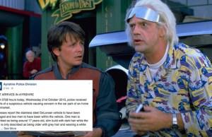 Scottish Police Celebrated Oct 21st Back To The Future Day in The Most Awesome Way