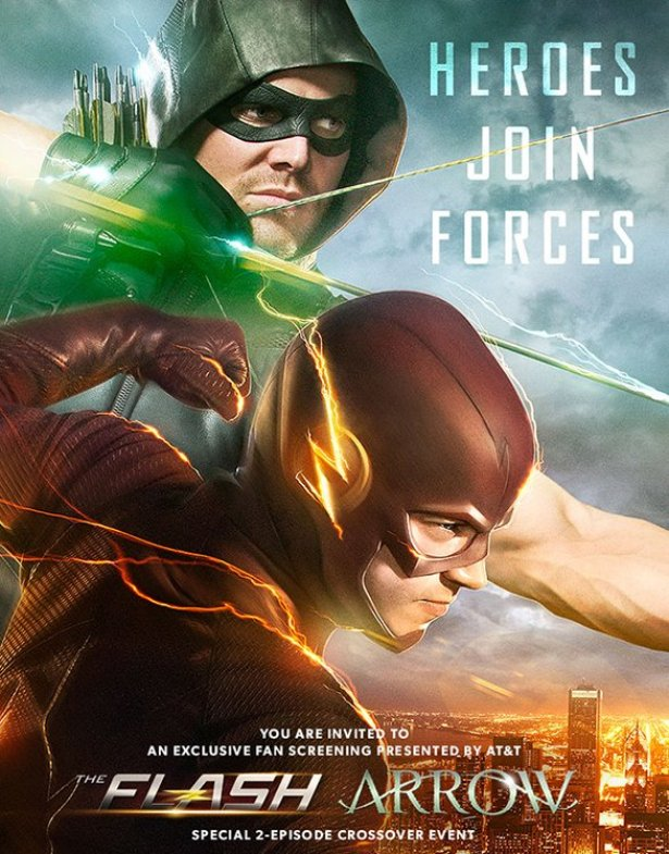 THE FLASH and ARROW Crossover Poster and TV Spots