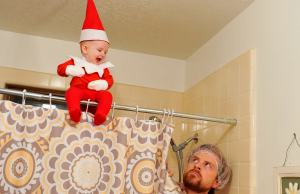Dad Turns His Son Into a Elf on the Shelf