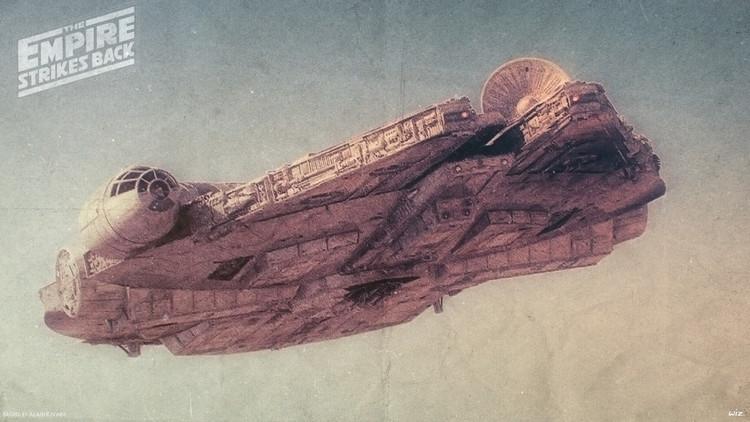 Millennium Falcon Illustration Art