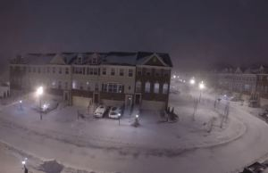 Snow Accumulation in Maryland During Winter Storm 2016