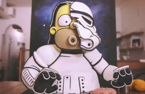 Homer Simpson Stormtrooper Cake Art