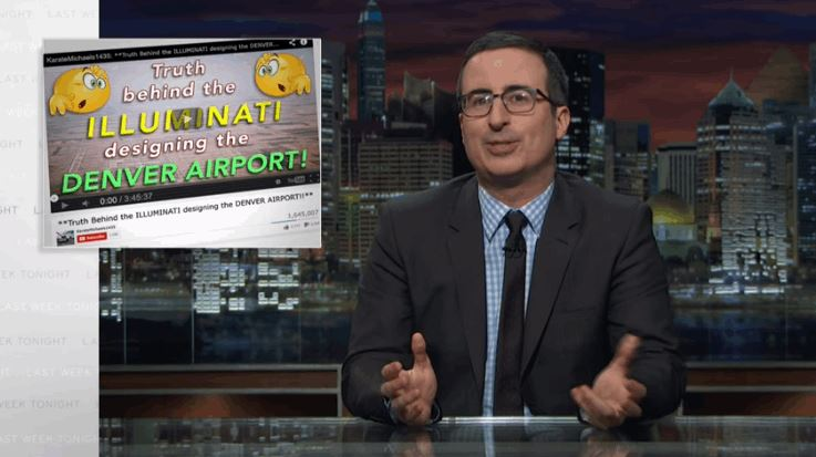 John Oliver Made His Own Hilarious Conspiracy Video