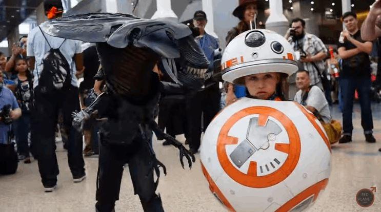 Transforming BB-8 Costume at WonderCon 2016
