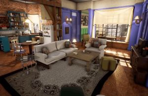 Monica's Apartment From Friends Rendered in Unreal Engine 4