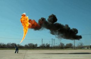 50-Foot Jets of Flame Shooting in 4K Quality From a Flamethrower