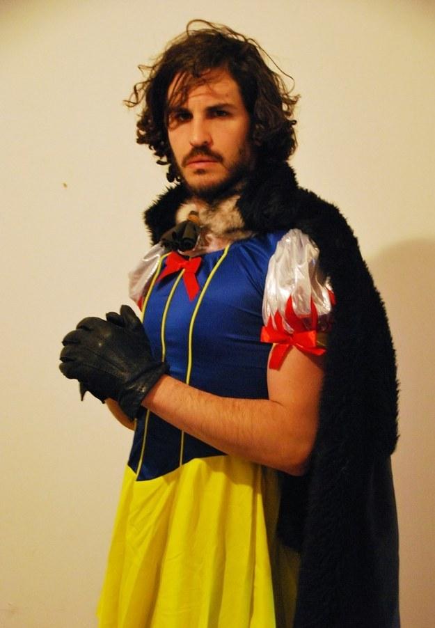 Jon Snow and Snow White Mashup Cosplay