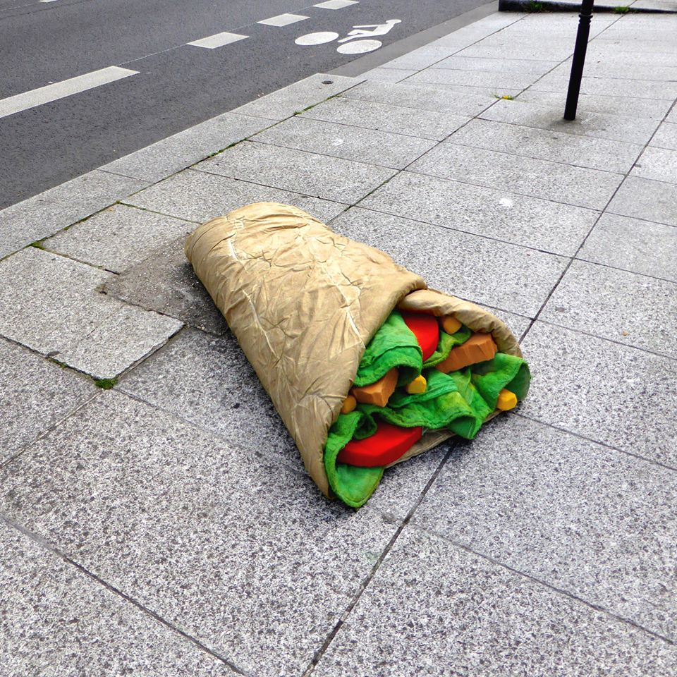 Old Mattresses Into Awesome Food Sculptures