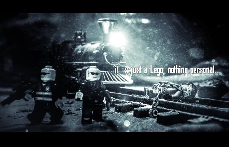 Dark LEGO Photo Art