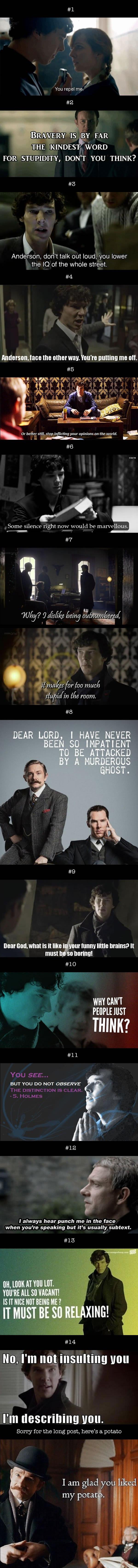 Sherlock Insults