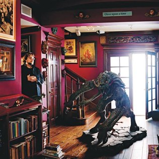 Guillermo Del Toro Showing His Horror Collection