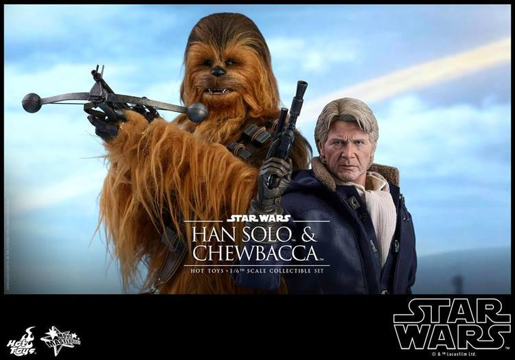 Hot Toys Han Solo and Chewbacca Action Figures