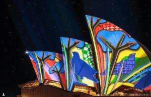 Gorgeous Art Projected On Sydney Opera House