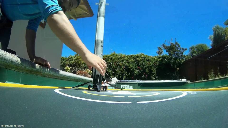 Miniature SpaceX Falcon 9 Drone