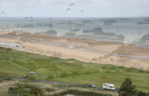 Then and Now Photo of Omaha Beach, Normandy