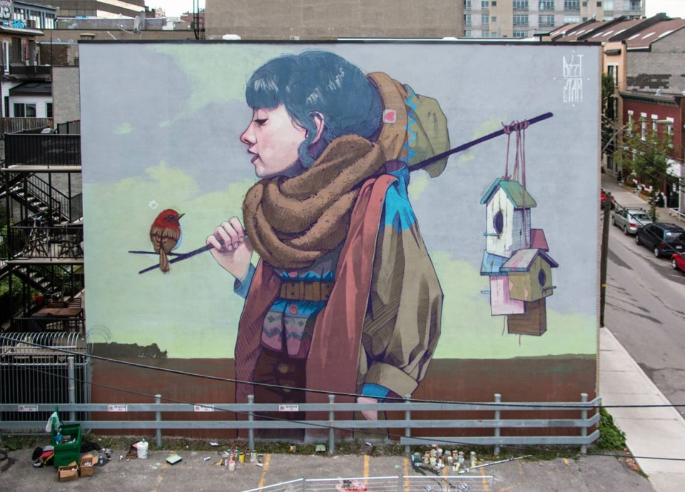 Incredible Murals On The Side Of The Buildings