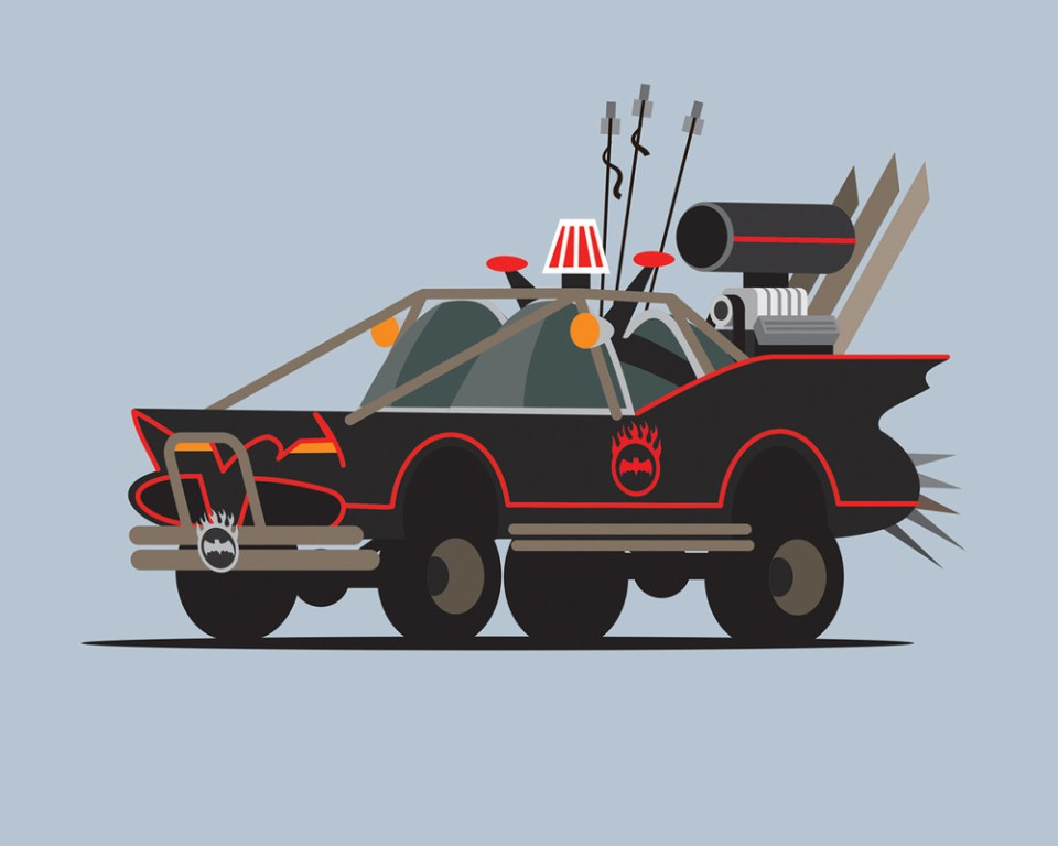Classic Movie/TV Cars a MAD MAX Makeover