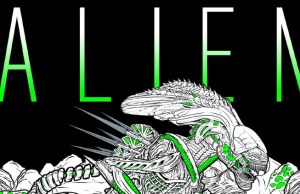 ALIEN Coloring Book For Adults
