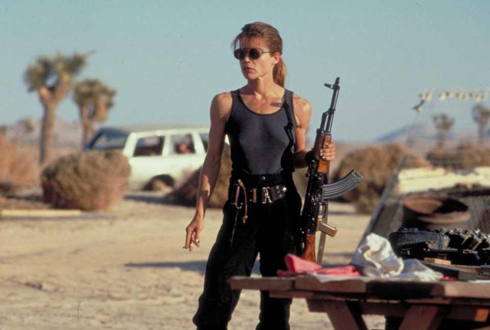 Sarah Connor in The Terminator and Terminator 2