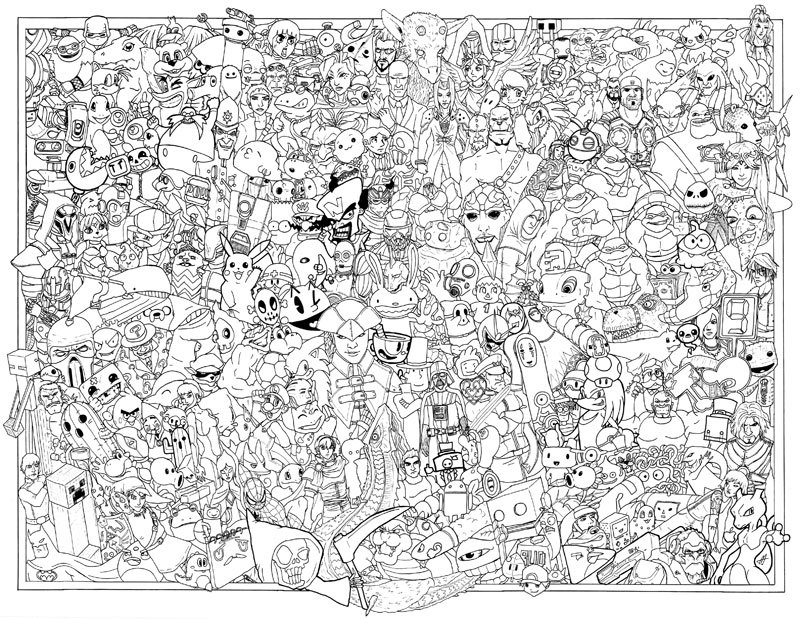 Color This Right and You Will See Gaming Logos