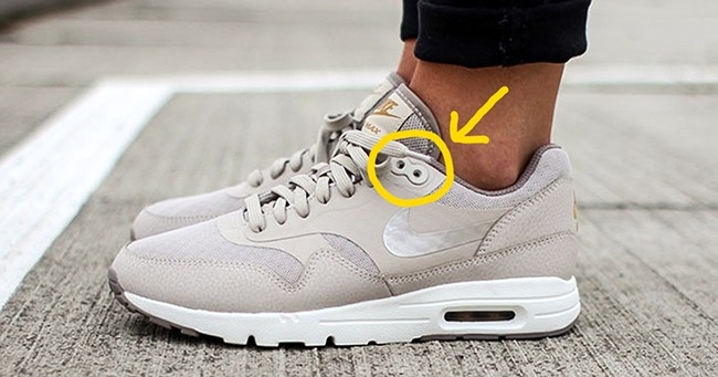 The extra eyelets on your sneakers