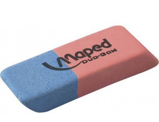 The blue part of your eraser