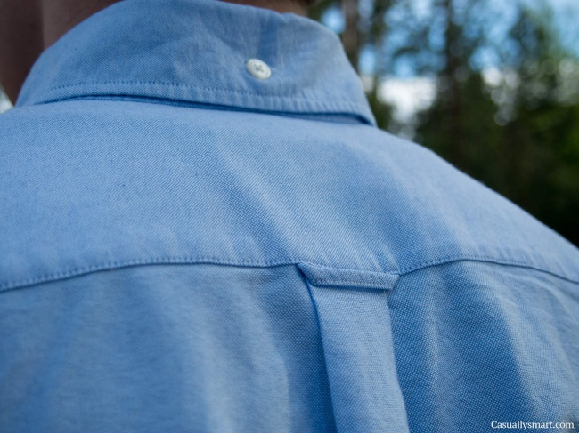 The hanging loop on the back of your shirt