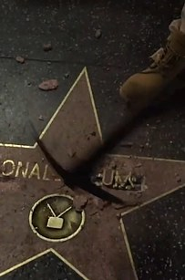 Donald Trump's Hollywood Walk Of Fame Star Destroyed