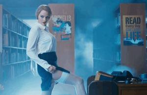 Margot Robbie As A Sexy Librarian