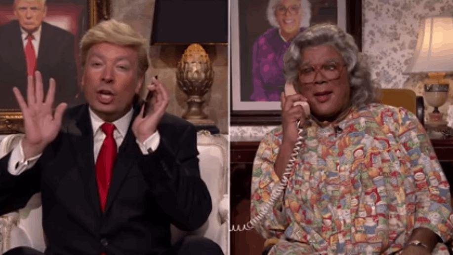Hilarious Jimmy Fallon's Phone Convo Between Donald Trump And Madea