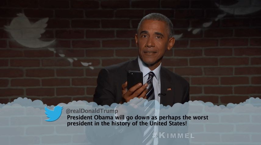 President Obama Reading Means Tweets in Jimmy Kimmel