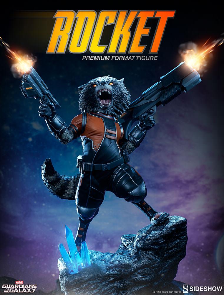 Groot and Rocket Raccoon Figures