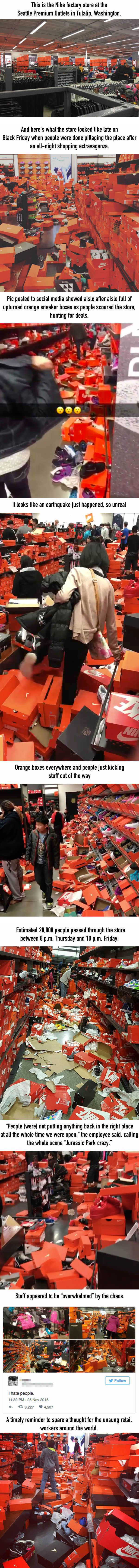 Nike Store Completely Destroyed By Black Friday Shoppers