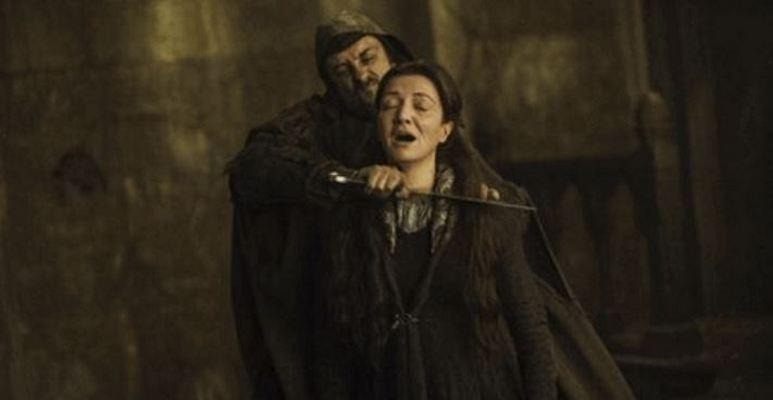 Game Of Thrones Catelyn's throat is slit