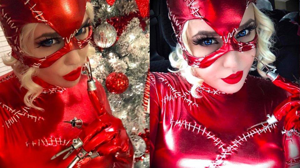 Catwoman Christmas Cosplay