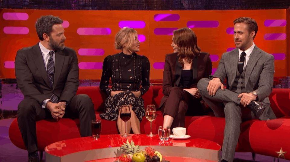 Ben Affleck, Emma Stone, Ryan Gosling and Sienna Miller
