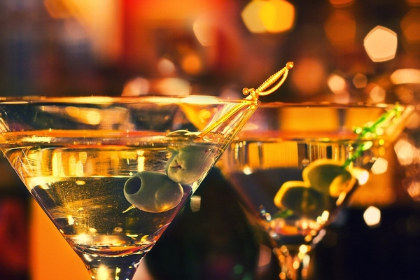 Olive-and-glass-Martini