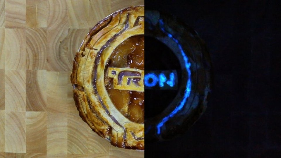 Glow-in-the-Dark TRON Pie