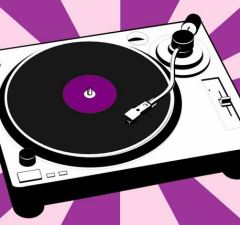 portable record player art