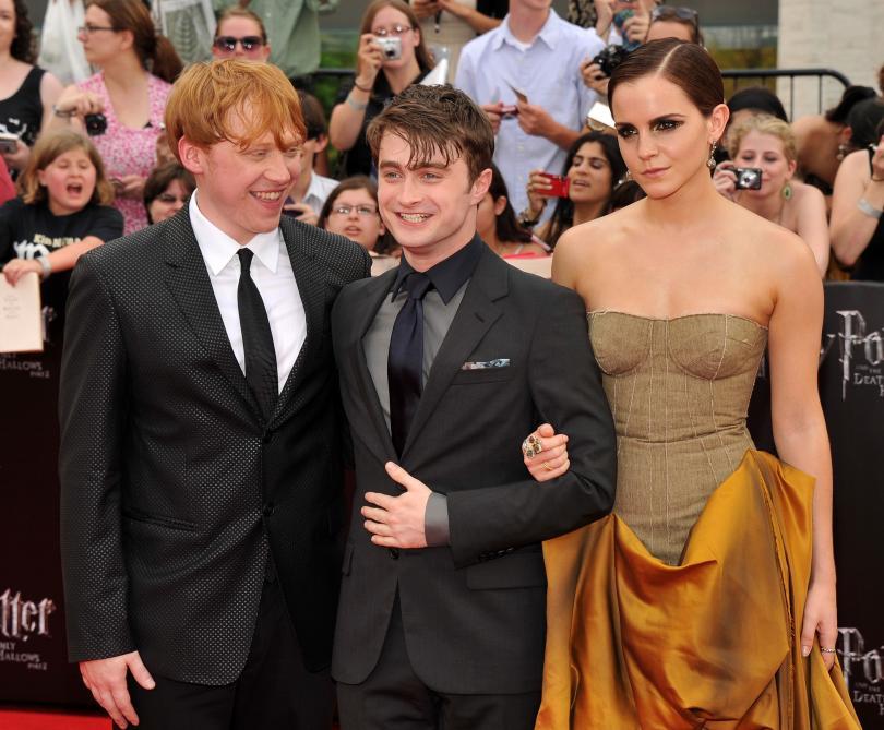 Daniel Radcliffe, Emma Watson, and Rupert Grint