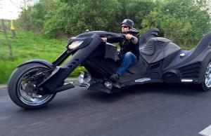 Trike Motorcycle Resembling Batmobile From Batman Returns
