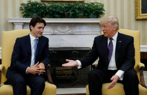 Donald Trump With Justin Trudeau