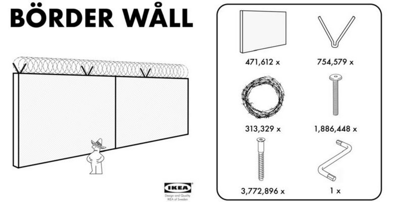 IKEA Offers President Trump an Affordable Border Wall