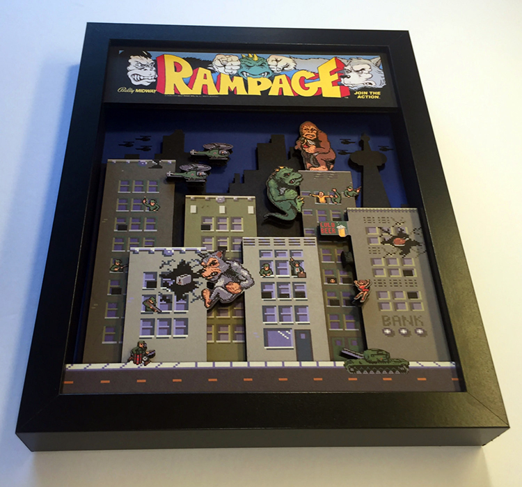 3D Video Game Shadow Boxes