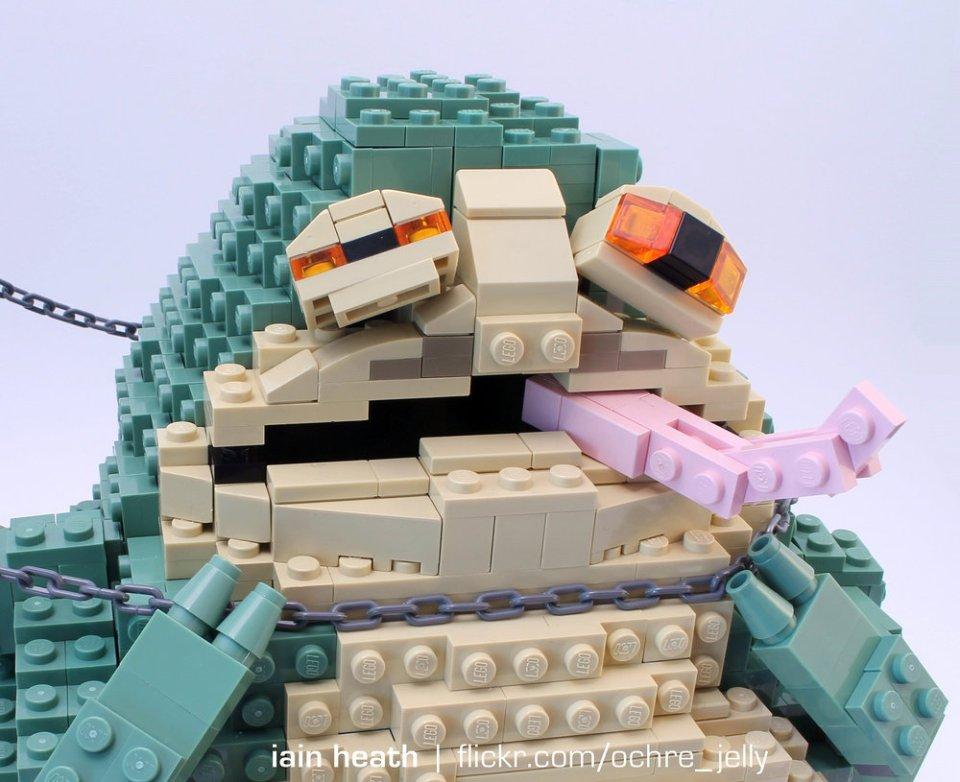 LEGO Star Wars Princess Leia And Jabba the Hutt