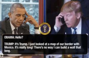 Donald Trump & Barack Obama